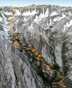 The Mt. Whitney Main Trail from Portal to Summit